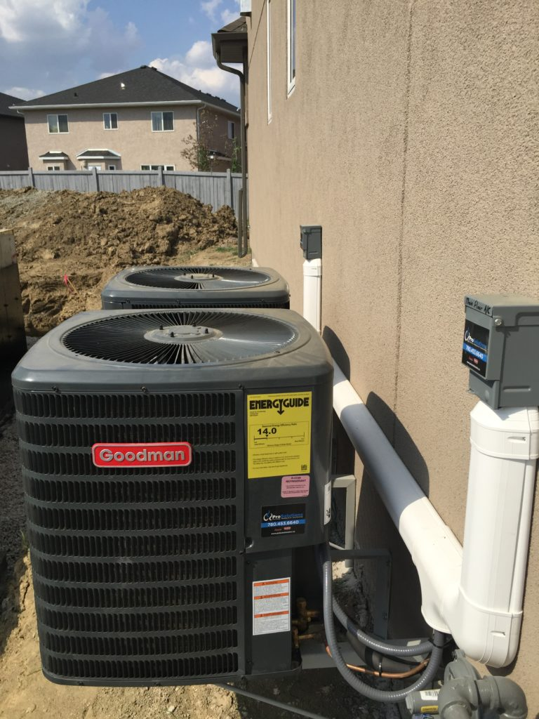 new AC installation by professional AC install contractor
