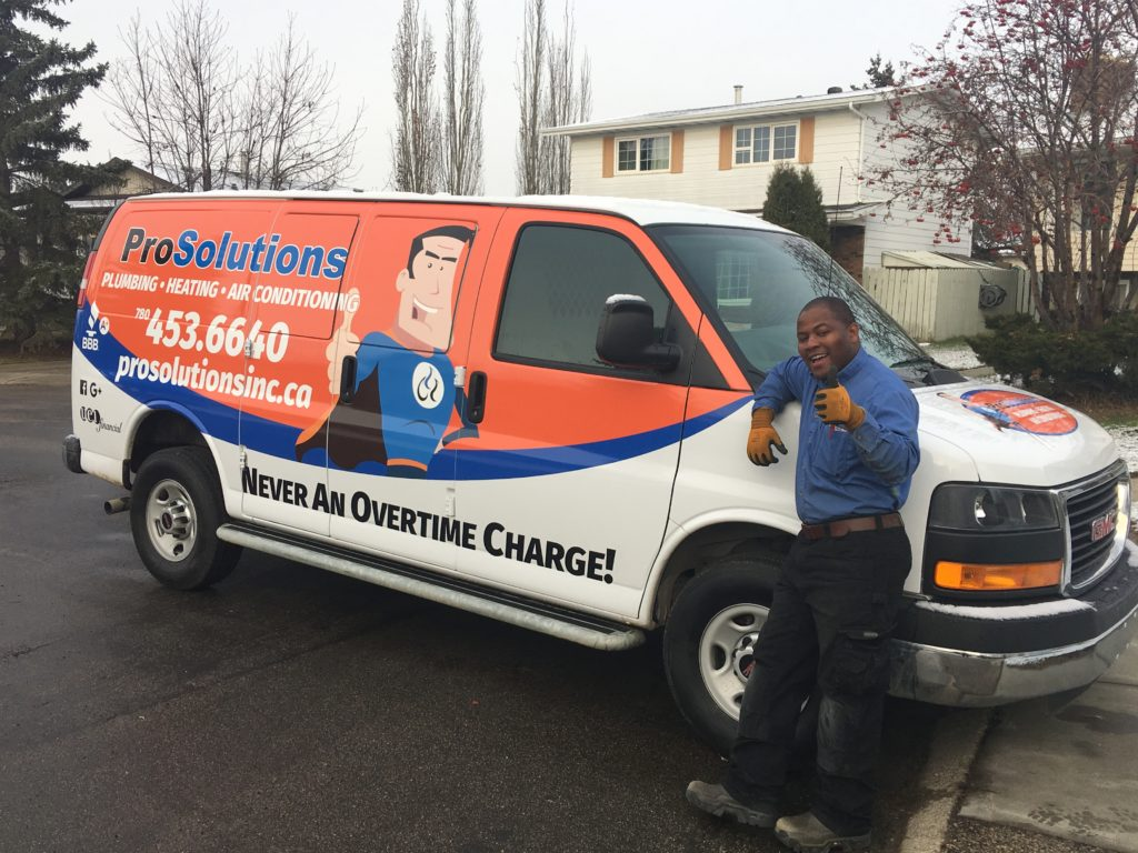 ProSolutions certified technicians are always happy to help you with your plumbing, heating and air conditioning needs.